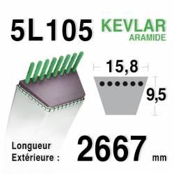 COURROIE KEVLAR 5L1050 - 5L105 - MTD 75404069 - 7540631