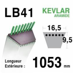 Courroie motoculture trapézoïdale 16.5mm x 1053mm ext. (LB41)